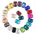100PCS/40P Mixed Colors Pointed Long Octagonal Fancy Glass Stones(Various Sizes)