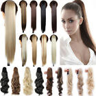 AU 120G Thick Clip In Pony Tail Hair Extensions Claw Clip On Ponytail Blonde F5T