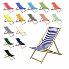 Wooden Deck Chair Chairs Traditional Folding Sun Lounger Garden Beach Seaside