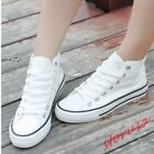 Girls Preppy Flat Oxfords Breathable High Top Casual Sneakers Canvas Sport Shoes