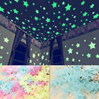 decorative stars for walls - 100Pc/set Stars Luminous Fluorescent Wall Sticker Home Decor For Kids Room Party