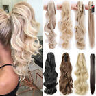 Clip In Hair Extensions Ponytail Jaw Claw On Natural Pony Tail Hair Pieces FP1
