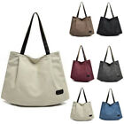 Women Evelyn Large Canvas Fashion Bag Casual Tote Satchel Cross-Body Handbag