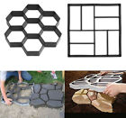 Driveway Stepping Stone Mold Concrete Paving Pavement Garden Pathway Walk Make image