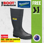 Blundstone Work Boots. 025 Safety Gumboots. Grey Nitrile Rubber. Premium Comfort