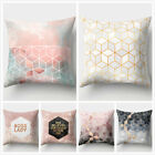 "18"" Home Peach Skin Pink Luxury Decor Geometrical Figure Waist Pillows Cover"