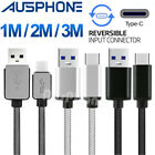Fast USB Type-C Sync 3A Charger Braided Cable For Samsung Galaxy S9 S9+ S8 S8+