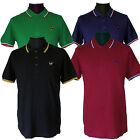 Warrior UK England Slim Fit Soul 45 Polo Shirt Cotton Black Blue Oxblood Green