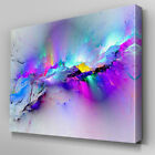 Framed Modern multicoloured blue Canvas Wall Art Abstract Picture Large UK