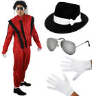MENS JACKO COSTUME HAT GLASSES GLOVES HALLOWEEN FANCY DRESS OUTFIT CELEBRITY