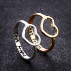 Fashion Best Friends Jewelry Ring Simple Hollow Heart Ring Friendship Letter