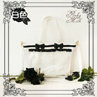 Transparent Clear Women Black White Handbag 2way Shoulder Bag Cross Body Itabag