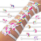 2/10Pcs Unicorn Bracelet White Band Party Bag Fillers Gift For Kids Style Random