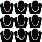 Kids Colorful Imitation Pearl Children Baby Girls Necklace Candy Color Jewelry
