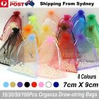 10-100pcs 7x9cm Organza Bag Sheer Bags Jewellery Wedding Candy Packaging Gift