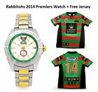 SOUTH SYDNEY RABBITOHS 2014 PREMIERS 2 TONE MENS WATCH + FREE PREMIERS JERSEY