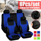 yellow car seat covers - Universal Auto Full Set Car Seat Covers Polyester Front Rear 4 Heads 6-Color