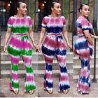 Jumpsuits for Women 2Piece Crop Shorts Sleeve Top Casual Jumpsuit Pants Outfits