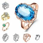 Fashion Crown Vintige Silver Ring Design Wedding Crystal For Wome Best Gifts Lot