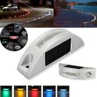 6 LED Outdoor Solar Powered Wall Step Lights Ground Driveway Garden Path Lamp