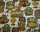 "Baldwin Locomotive 1821 Bird's Inn Print Cotton Upholstery Fabric By Yard 54"" W"
