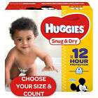 HUGGIES Snug & Dry Diapers Size Newborn, 1, 2, 3, 4, 5, 6 - CHOOSE SIZE & COUNT