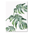 Watercolor Leaf Wall Art Canvas Poster Prints Green Plants Painting Nordic Decor