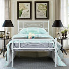 Twin Full Queen Size Platform Metal Bed Frame Bedroom Foundation with Headboard
