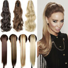 Real Thick Clip In Pony Tail Hair Extension Claw Clip On Ponytail As Human F5T