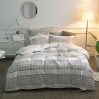 Merryfeel 100% cotton yarn dyed stripe Duvet Cover pillowsham Set Queen King image