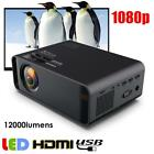 12000 Lumens HD 1080P LED Projector Home Theater Cinema Multimedia HDMI USB VGA