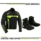 motorbike mens textile coat jacket motorcycle racing touring shoes leather boots