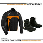 motorbike suit Motorcycle textile jacket Leather Boots Waterproof Off Road Shoes