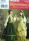 Renaissance Costume sewing pattern Blouse Skirt Vest new uncut Simplicity 3809