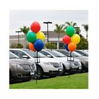 Permanent Outdoor Reusable Vinyl Balloons - 5 Cluster Kit With Ground Spike