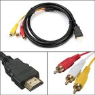 1.5m HDMI Male to 3 RCA Video Audio Converter Component AV Adapter Cable RF