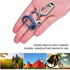 Carabiner Buckle Aluminum Alloy Hook Keychain Climbing Outdoor Survival Tool