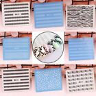 Flower Lace Nail Art Water Transfer Stickers Plastic Nail Tips Decals DIY