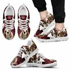 Paws Print Basset Hound (Black/White) Running Shoes For Men-Limited Edition-Expr
