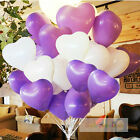 """12"""" X 10-100 Heart Shape White With Mix Colour Balloons Mothers Day Birthday"""