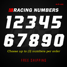 Racing Numbers Vinyl Decal Sticker | Dirt Bike Plate Number BMX Competition 630