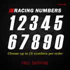 Racing Numbers Vinyl Decal Sticker | Dirt Bike Plate Number BMX Competition 631