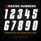 Racing Numbers Vinyl Decal Sticker | Dirt Bike Plate Number BMX Competition 632