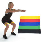 Resistance Bands Loop Set Of 4 Exercise Workout CrossFit Fitness Yoga-Carry Case image