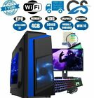 Fast Intel Core I3 Gaming Pc+monitor Bundle 4gb Ram 500gb Hdd W10 Computer
