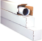 Kyпить Square Mailing Tubes White Corrugated Poster Document Storage Shipping Tube Box на еВаy.соm