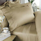 Beige Solid Bed Skirt Select Drop Length All US Size 1000 TC Egyptian Cotton image