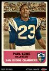 1962 Fleer #80 Paul Lowe Chargers VG/EX $17.0 USD on eBay