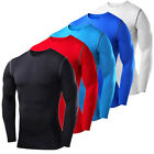 Mens Compression Shirt T-Shirt Vests Base Layers Gym Clothes Running Tights