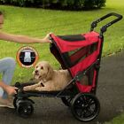 Pet Gear Excursion NO-ZIP Dog Cat Stroller Push Button Entry~4 Colors~Ships FREE